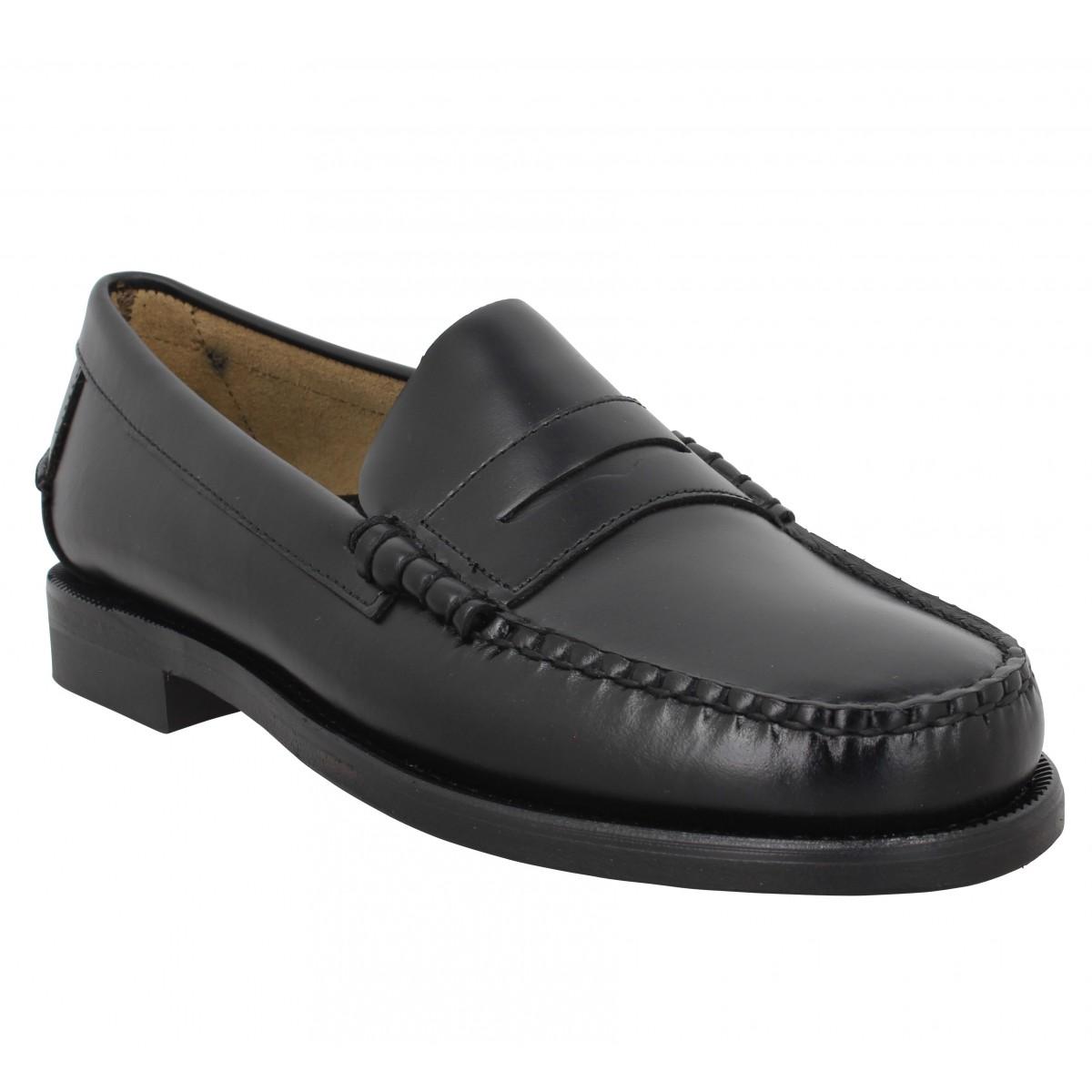 Mocassins SEBAGO Classic Dan W (Wide) cuir Homme Black