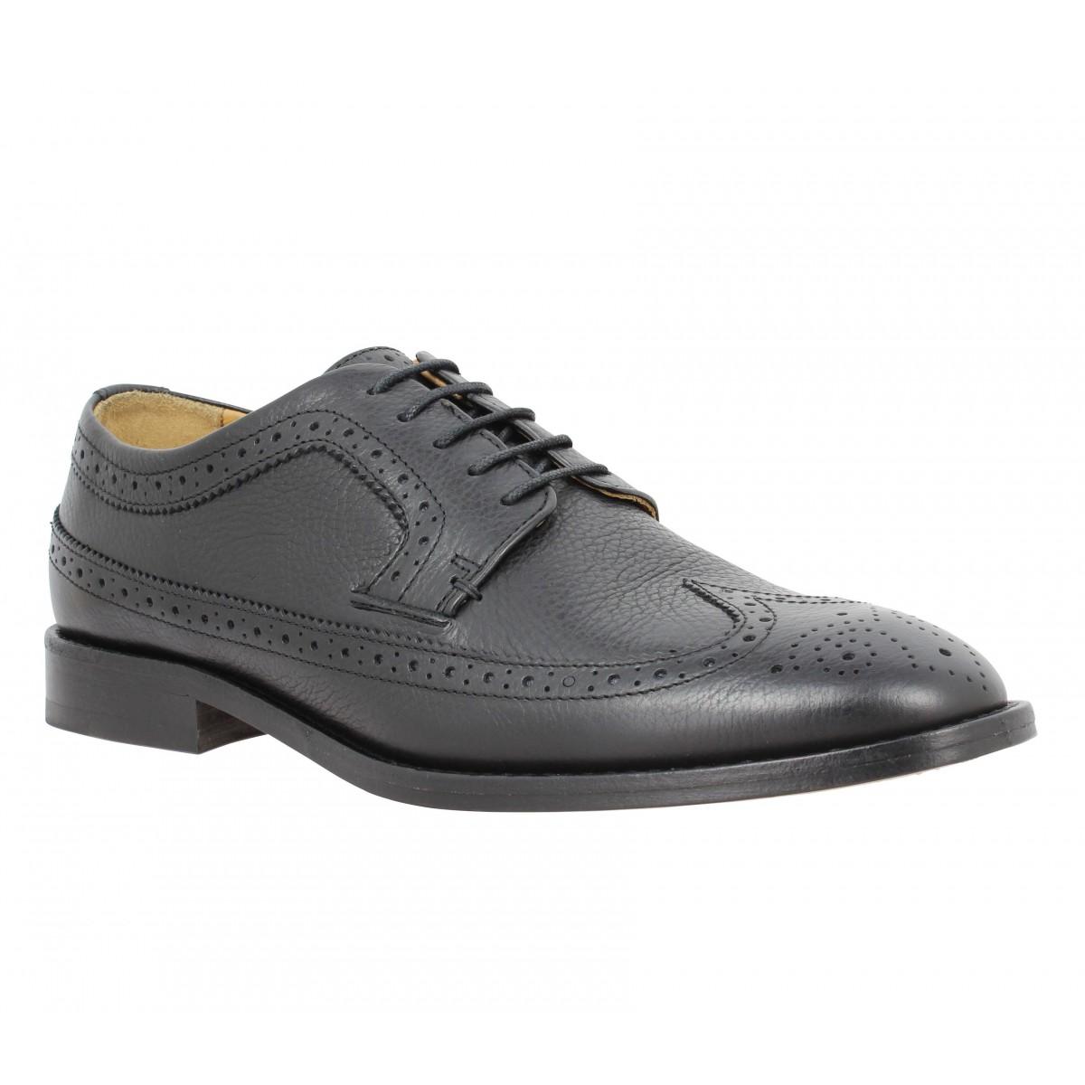 Chaussures à lacets SEBAGO Collier cuir Homme Noir