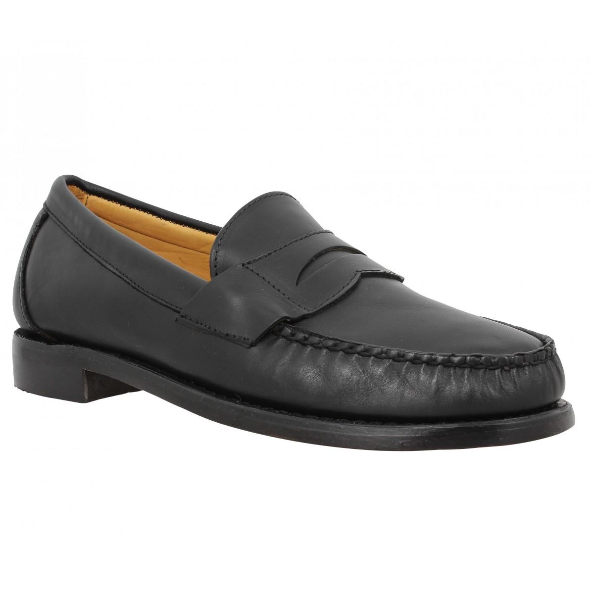 Mocassins SEBAGO Crest Cayman cuir Homme Noir