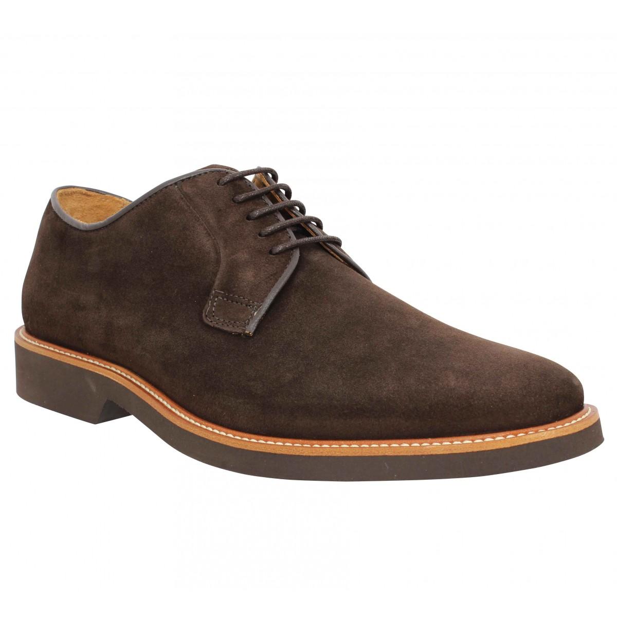 Chaussures à lacets SEBAGO Derby velours Homme Marron