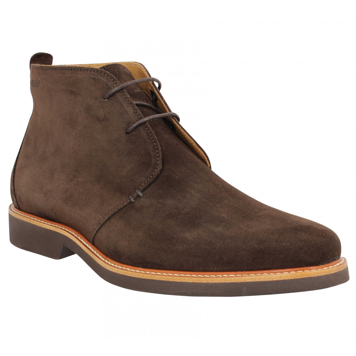 Bottines SEBAGO Desert Boot velours Homme Marron