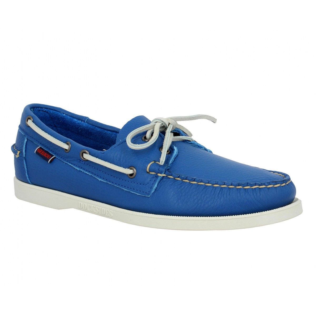 Chaussures bateaux SEBAGO Docksides cuir Homme Bleu Vif