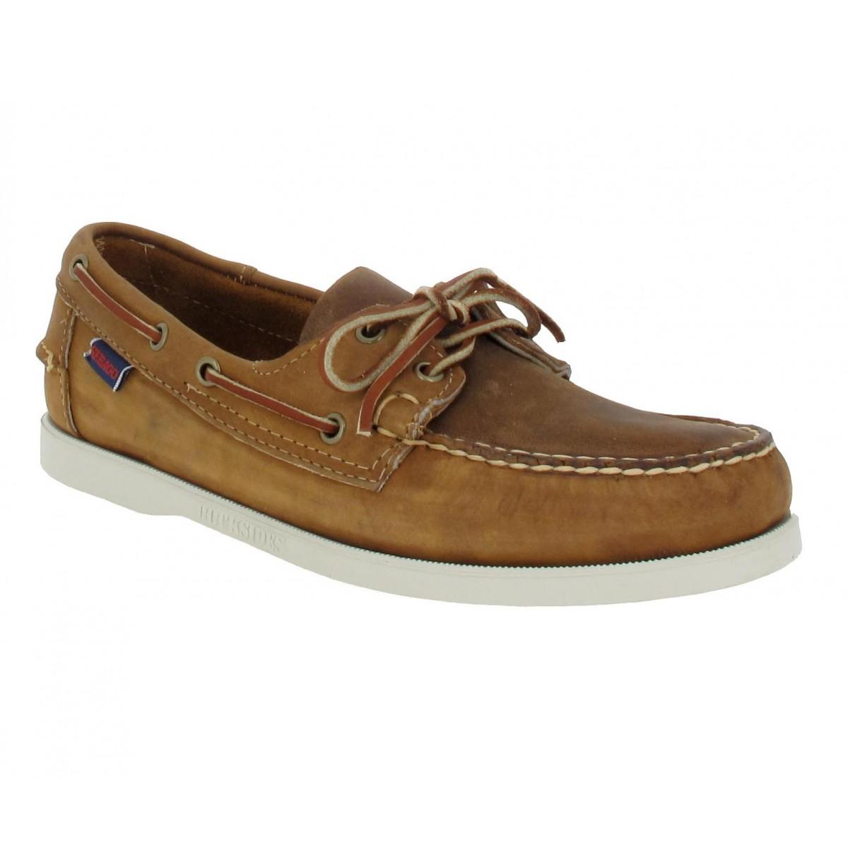 Chaussures bateaux SEBAGO Docksides cuir Homme Brun