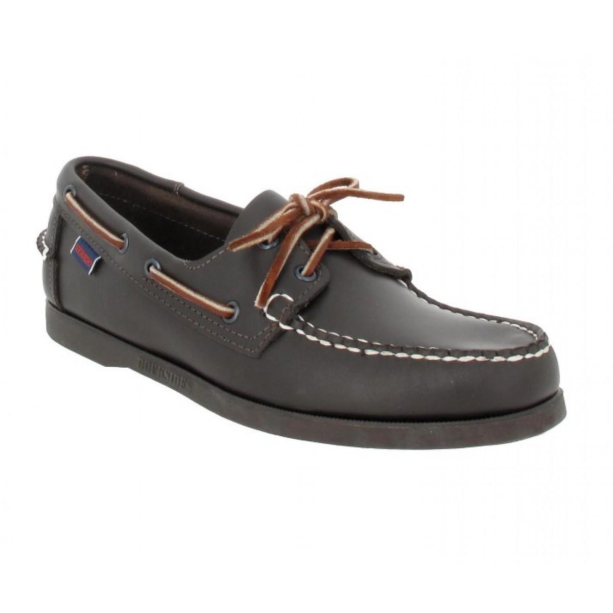 Chaussures bateaux SEBAGO Docksides cuir Homme Brown