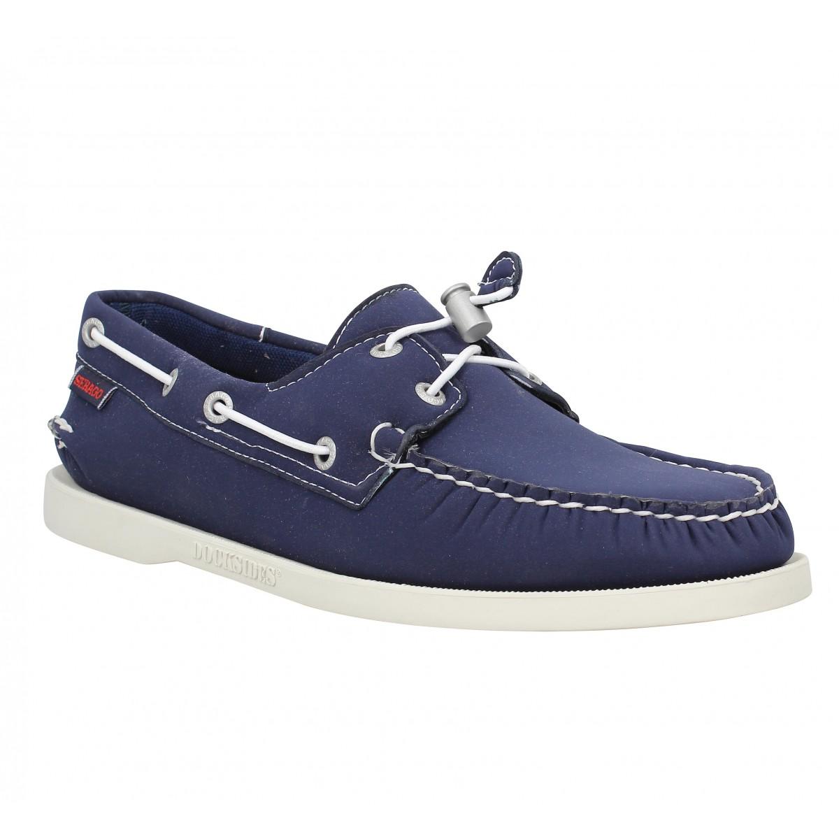 Chaussures bateaux SEBAGO Docksides neoprene Homme Navy