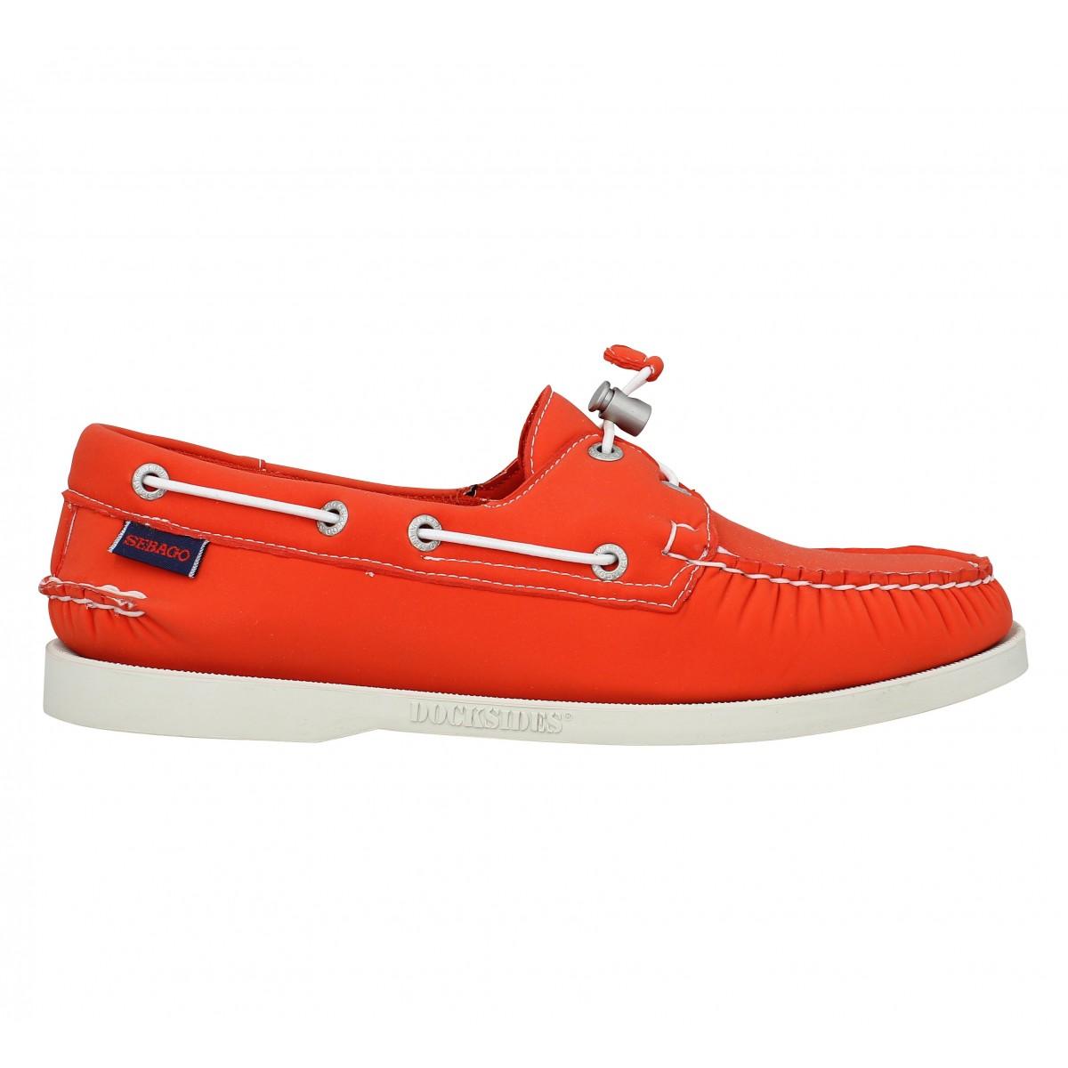 soldes sebago docksides neoprene homme orange fanny chaussures. Black Bedroom Furniture Sets. Home Design Ideas