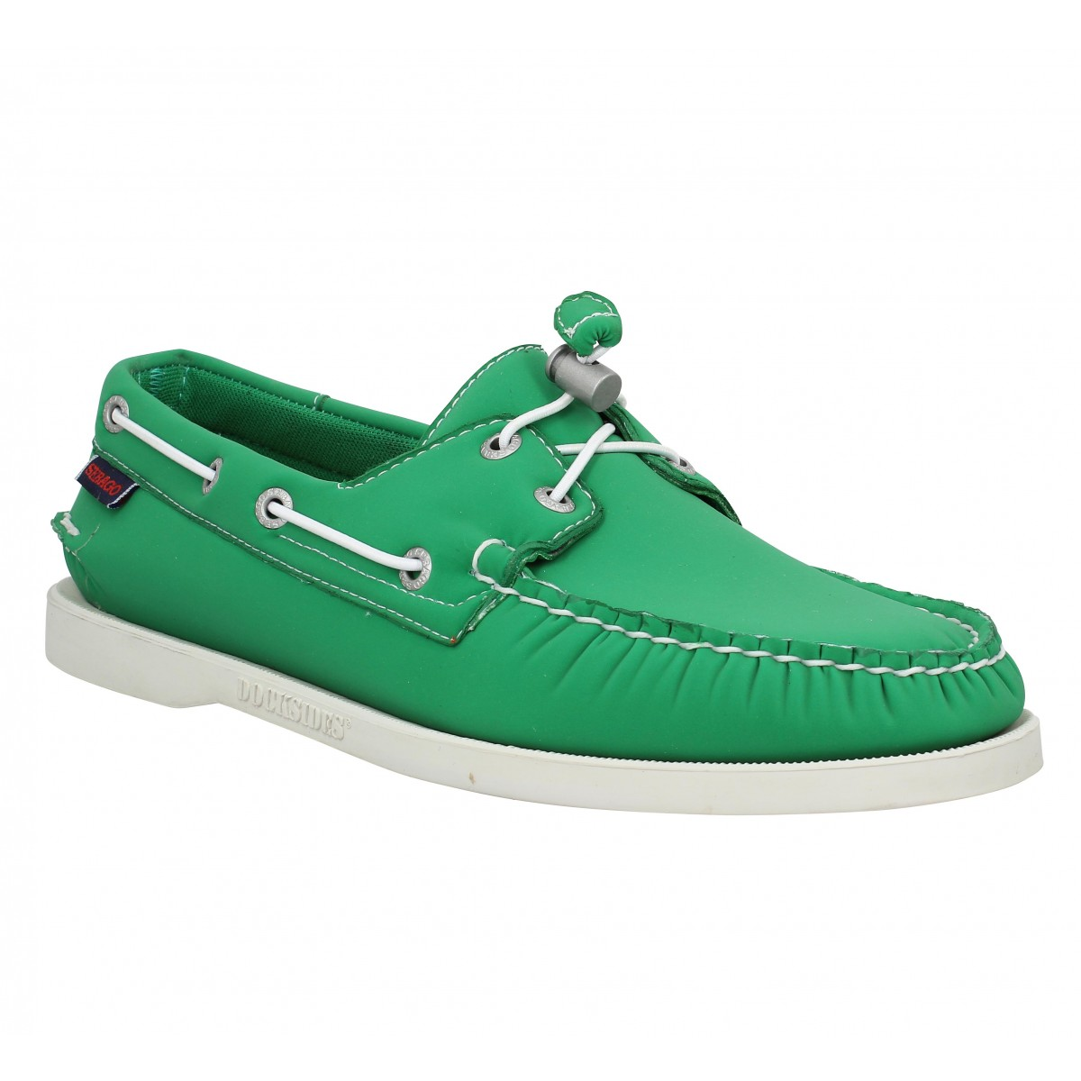 Chaussures bateaux SEBAGO Docksides neoprene Homme Vert