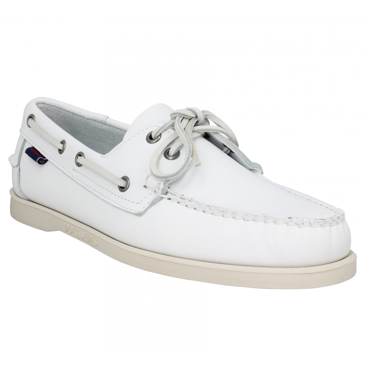 Chaussures bateaux SEBAGO Docksides Portland cuir Homme Blanc