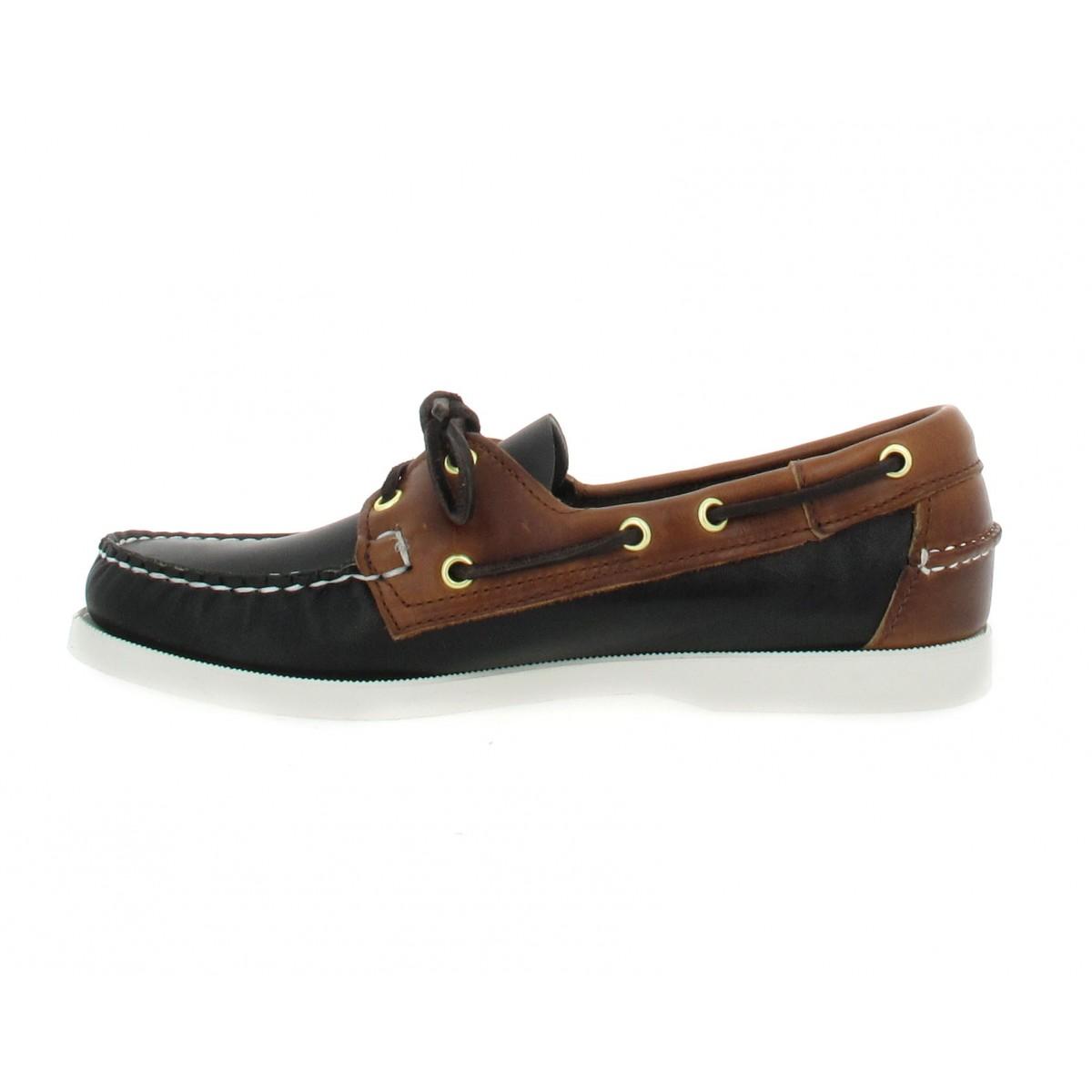 soldes sebago docksides spinnaker cuir homme noir marron fanny chaussures. Black Bedroom Furniture Sets. Home Design Ideas