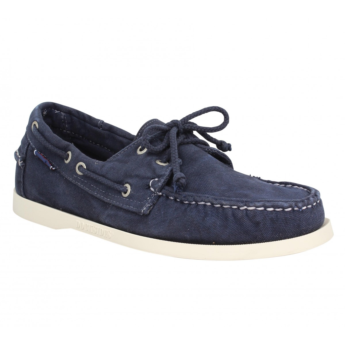 Chaussures bateaux SEBAGO Docksides toile Marine