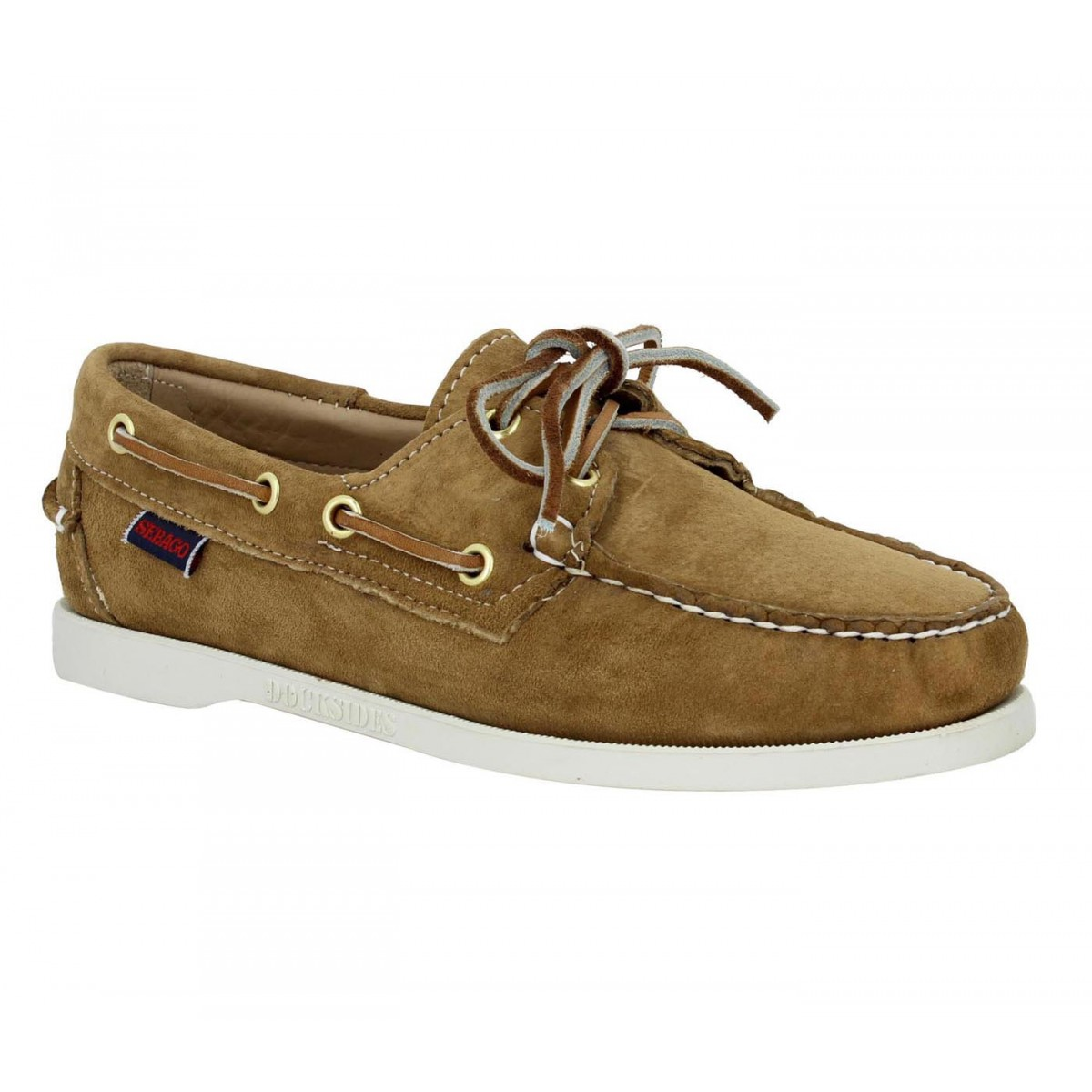 Chaussures bateaux SEBAGO Docksides velours Femme Sable