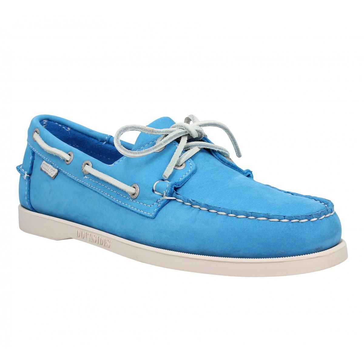Chaussures bateaux SEBAGO Docksides velours Homme Aqua