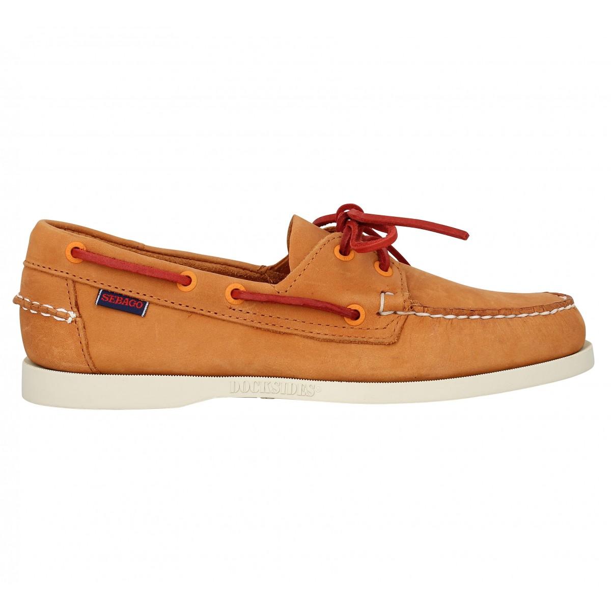 SEBAGO Docksides velours-40-Orange SGTMWo