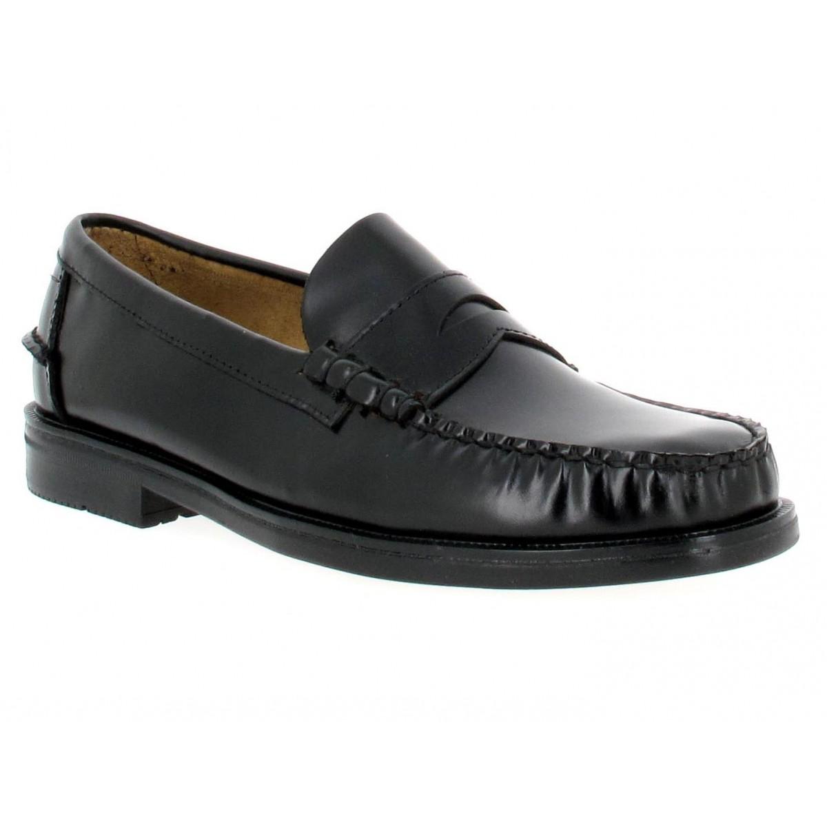 sebago grant homme noir fanny chaussures. Black Bedroom Furniture Sets. Home Design Ideas