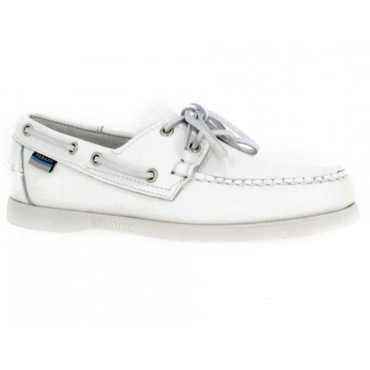 Chaussures bateaux SEBAGO Docksides Femme Blanc