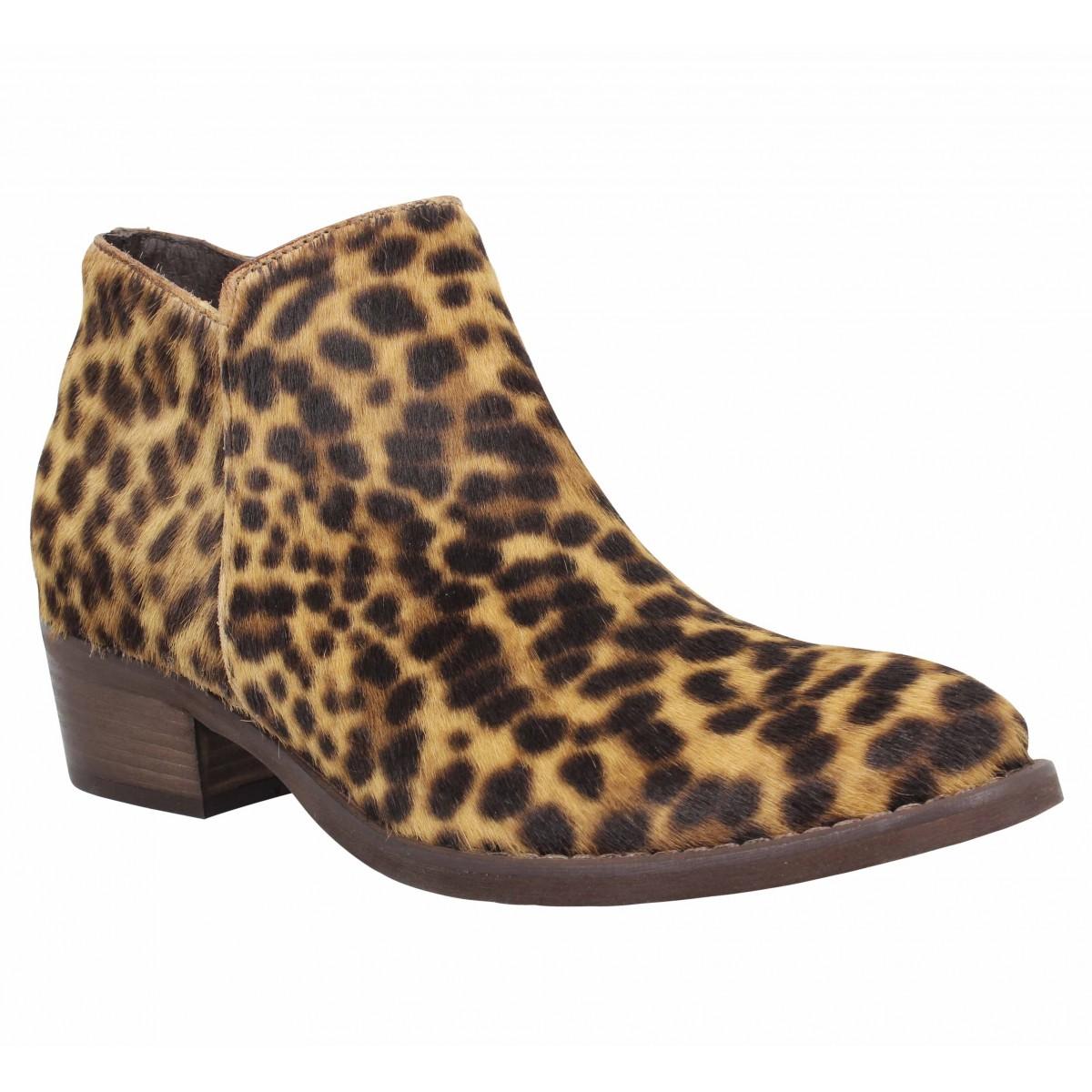 Bottines SEMERDJIAN 188 cuir Femme Leopard