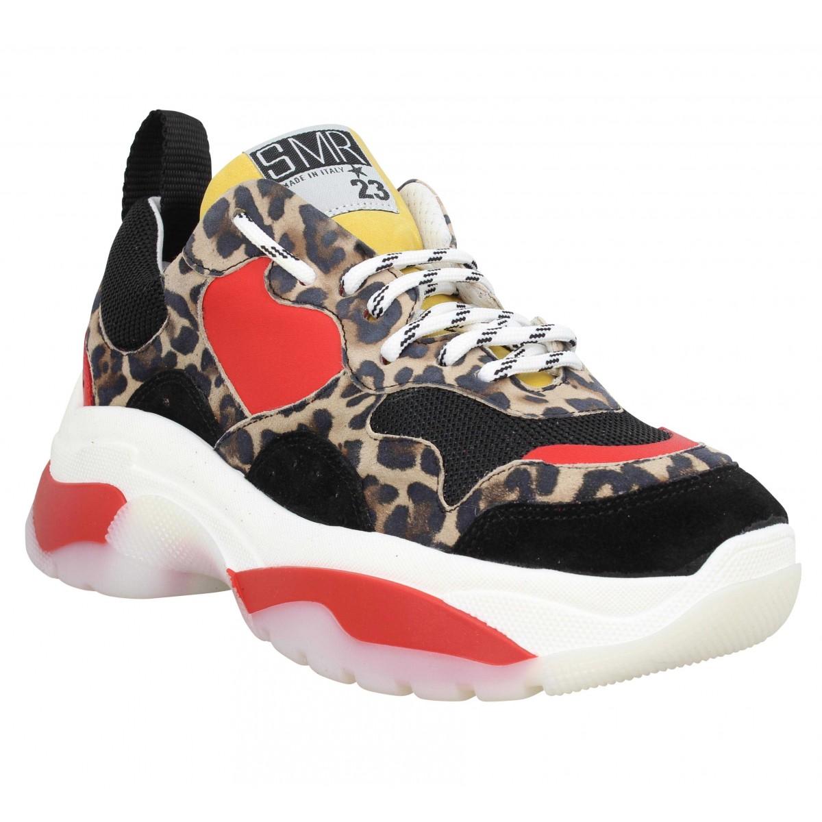 Baskets SEMERDJIAN 334 velours Femme Leopard