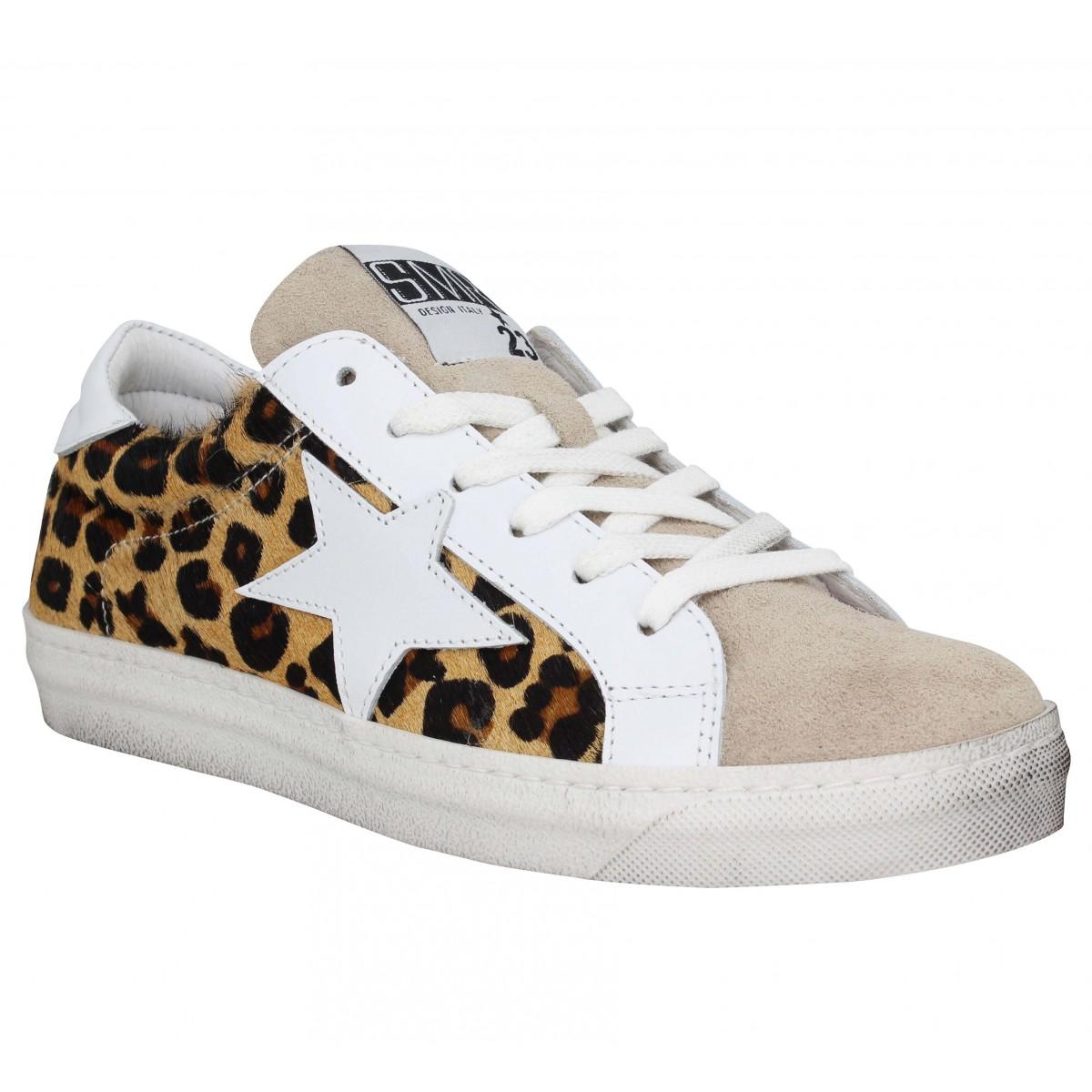 Baskets SEMERDJIAN Arta velours Femme Leopard