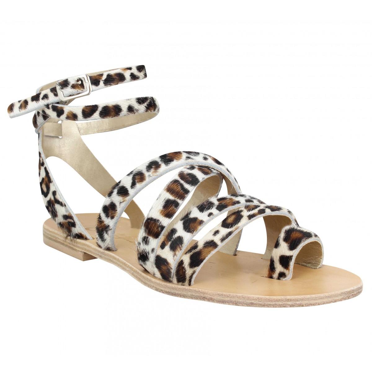 Nu-pieds SEMERDJIAN Bella cuir Femme Leopard