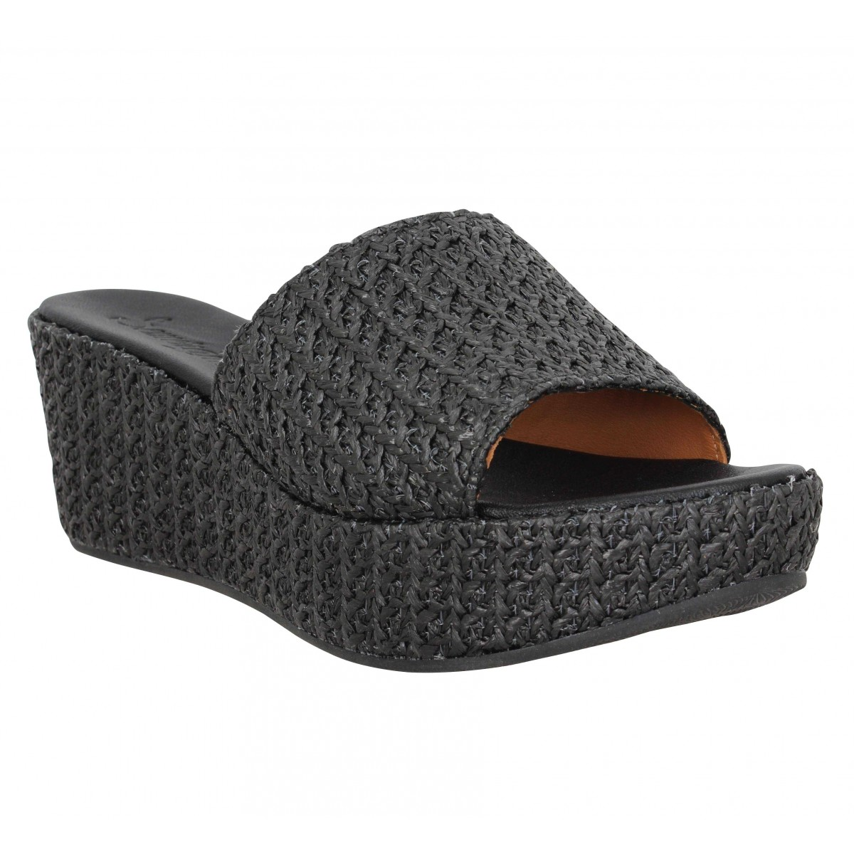 Sandales talons SEMERDJIAN Dea cuir Femme Noir