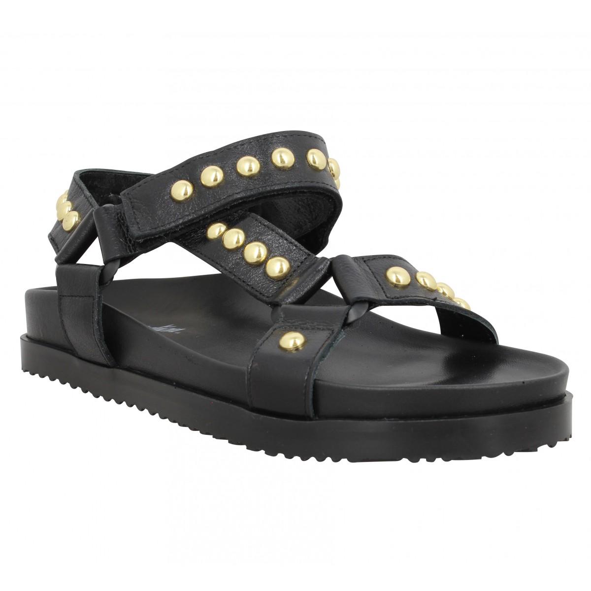 Nu-pieds SEMERDJIAN E559 cuir Femme Noir