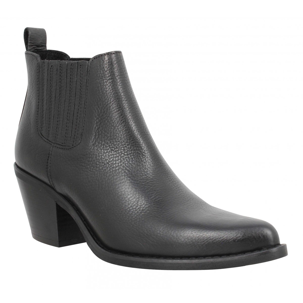 Bottines SEMERDJIAN ER506 cuir Femme Black