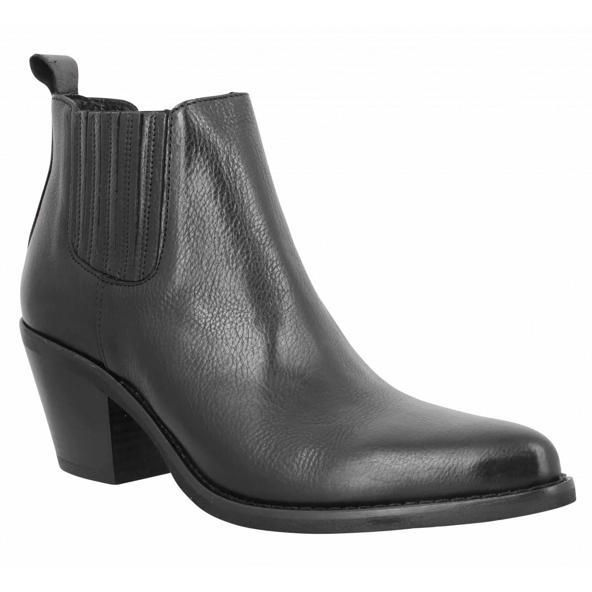 Bottines SEMERDJIAN ER506 cuir Femme Noir