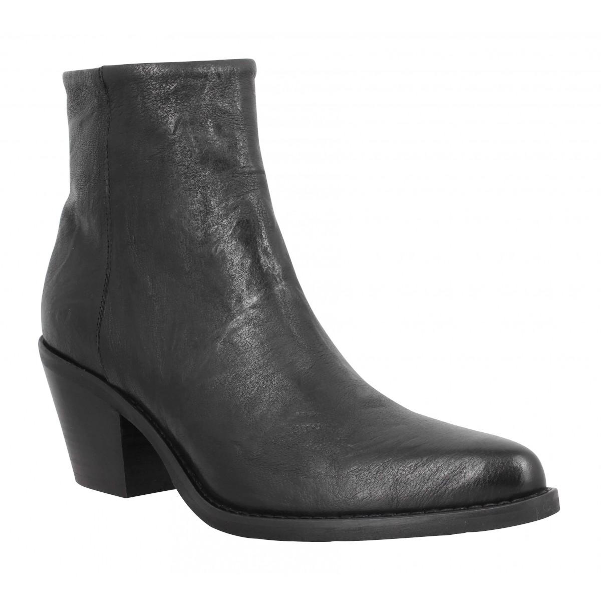 Bottines SEMERDJIAN ER513 cuir Femme Noir
