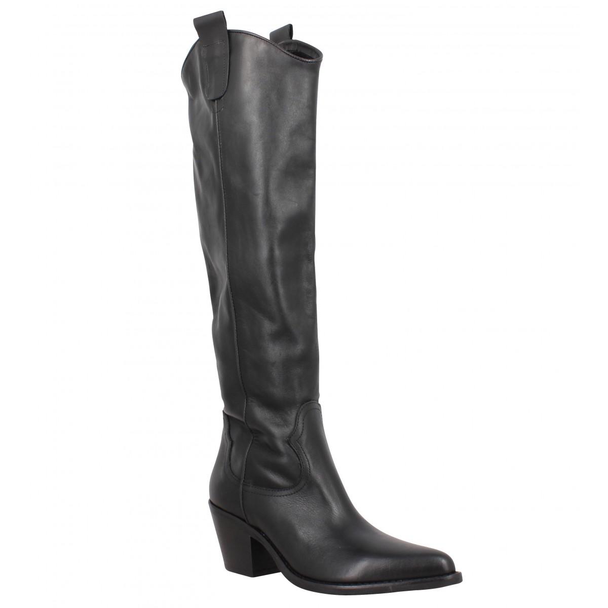 Bottes SEMERDJIAN ER841 cuir Femme Noir
