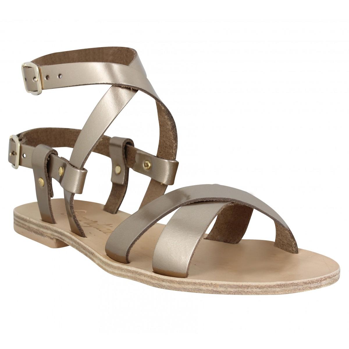 Nu-pieds SEMERDJIAN Eva cuir Femme Bronze
