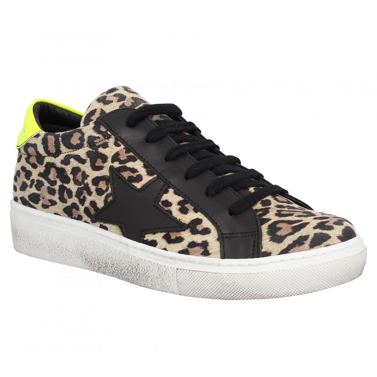 Baskets SEMERDJIAN Geci cuir Leopard