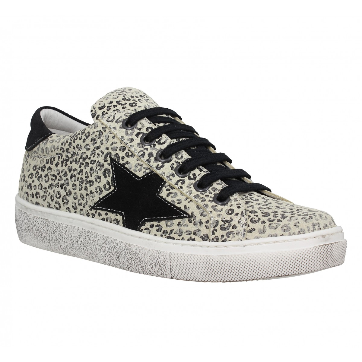 Baskets SEMERDJIAN Geci velours Femme Leopard