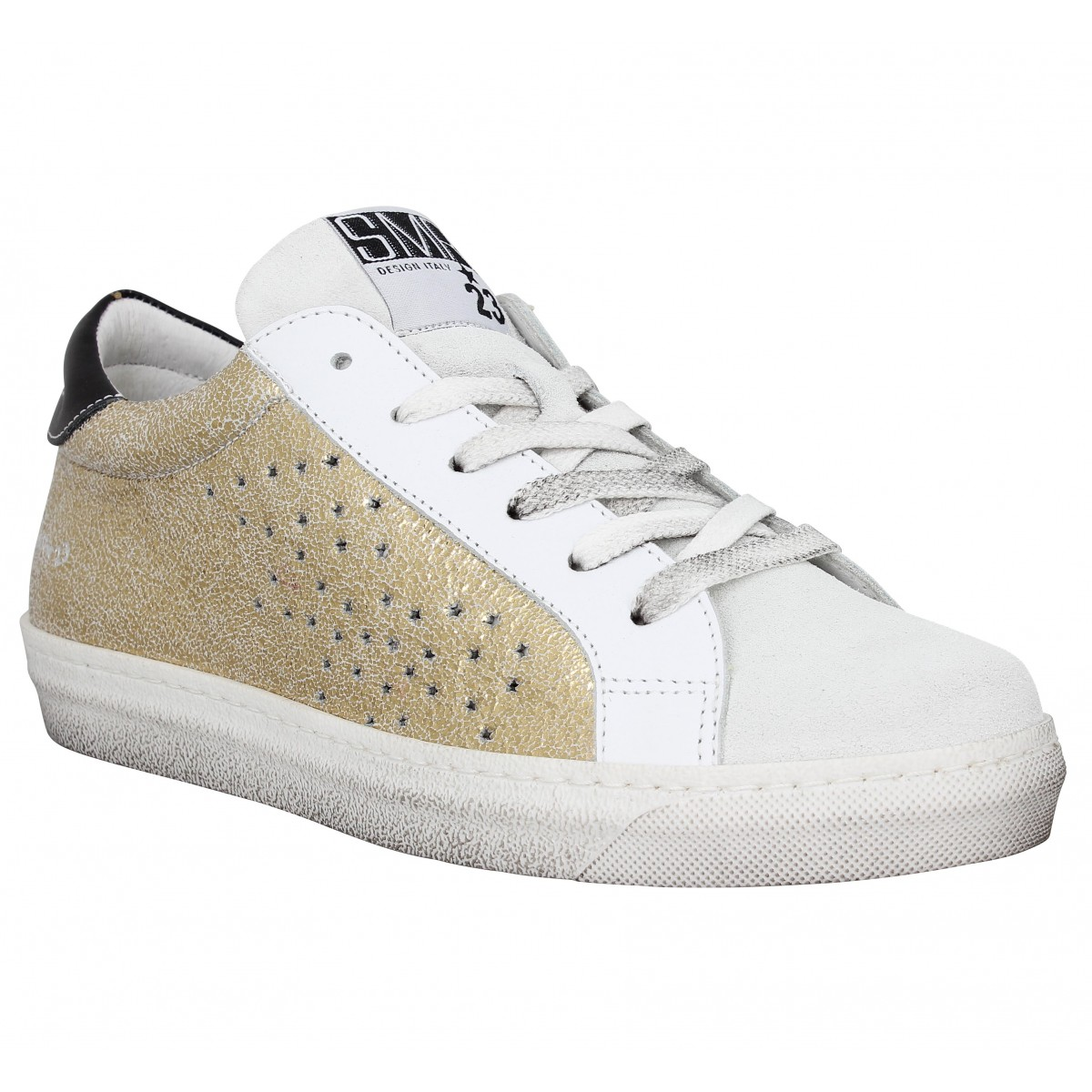Semerdjian gecida star cuir velours femme or femme   Fanny chaussures bfb2e8734185