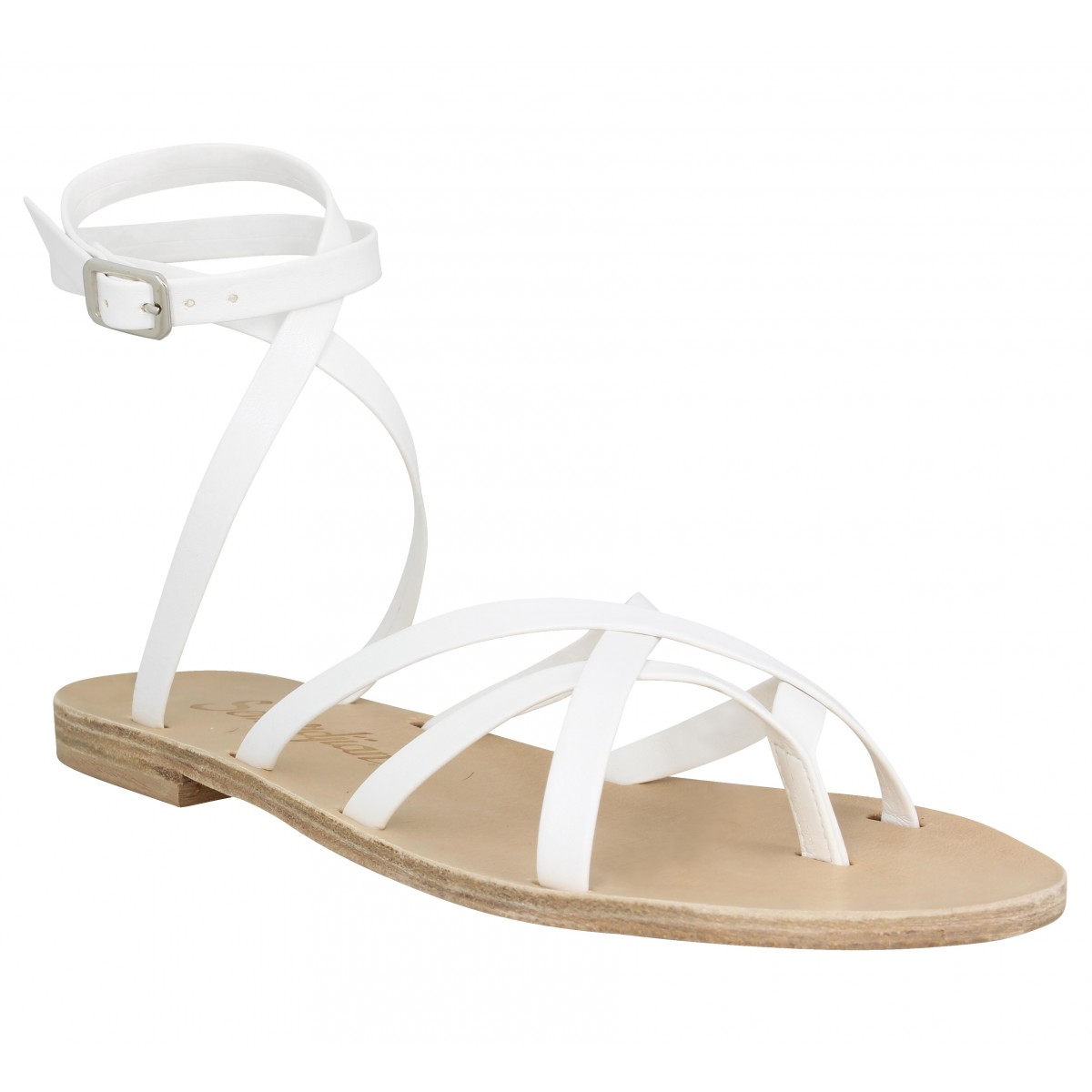 Nu-pieds SEMERDJIAN Petra cuir Femme Blanc