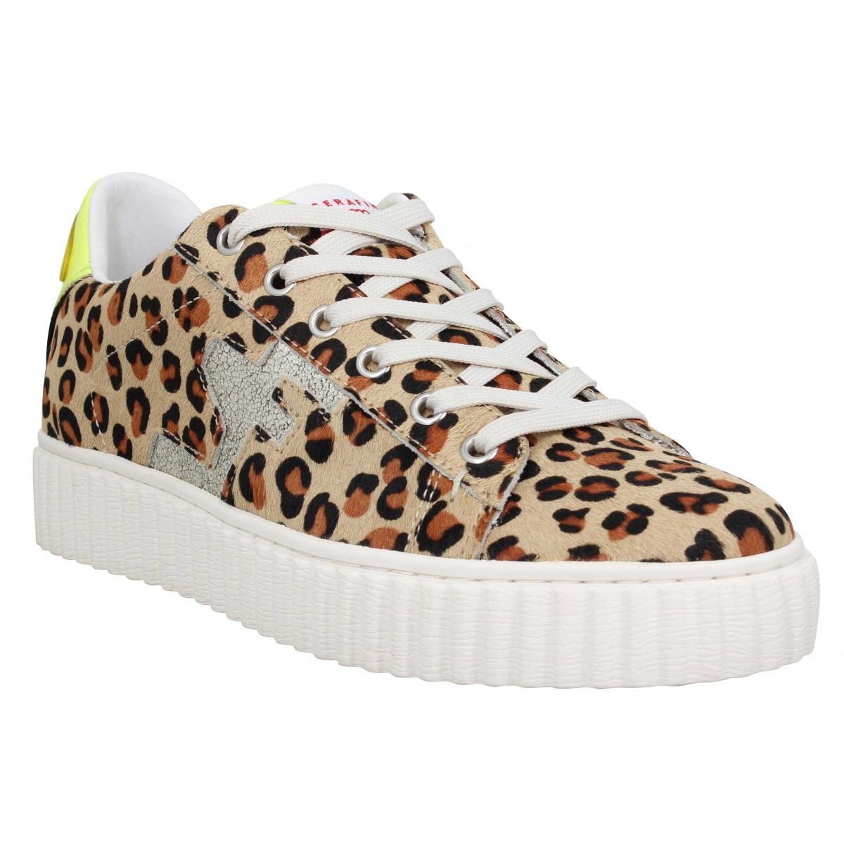 Baskets SERAFINI Madison velours Femme Leopard