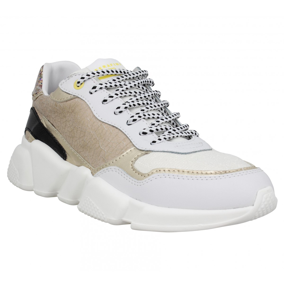 Baskets SERAFINI Oregon cuir Femme Or