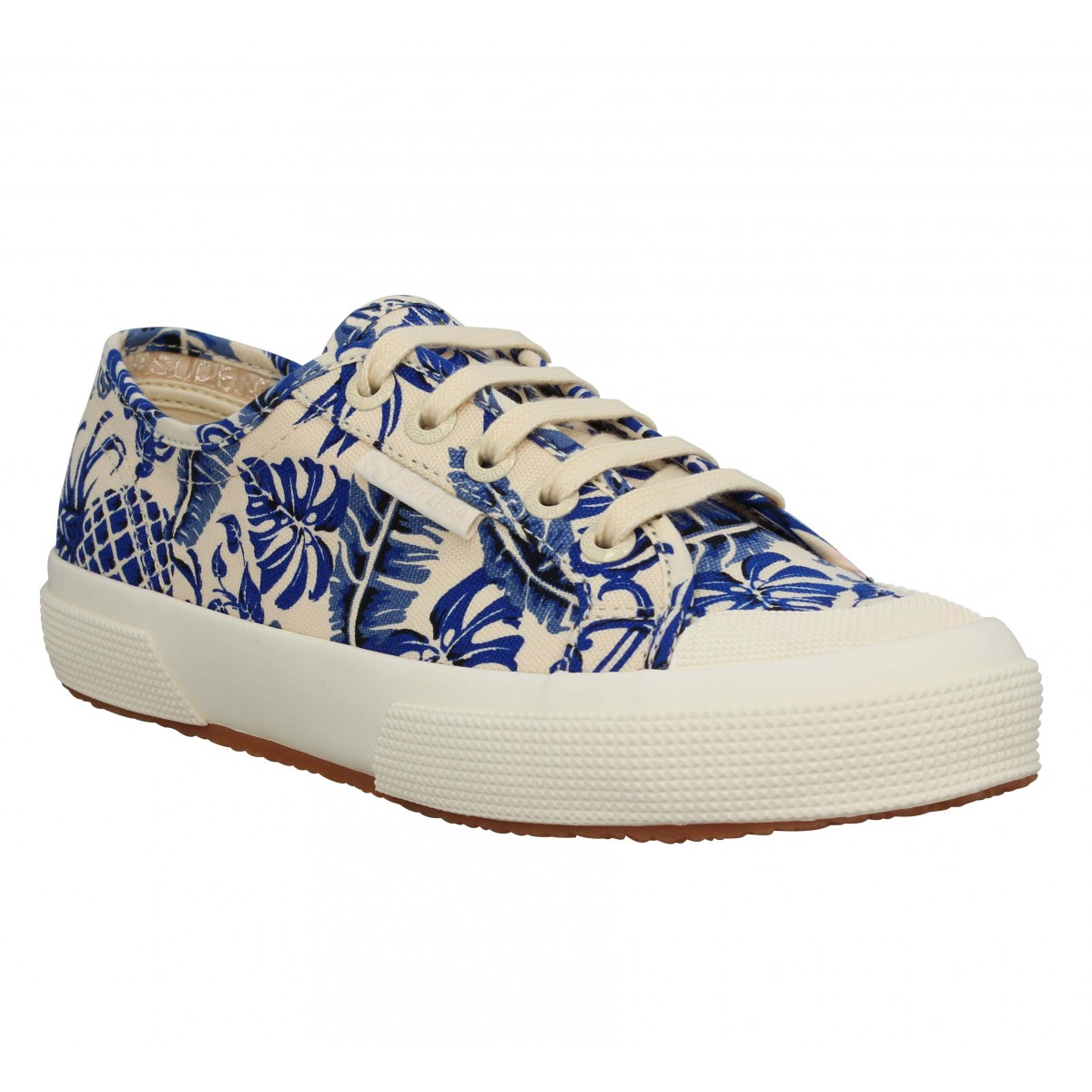 Baskets SUPERGA 2294 toile Femme Beige Pineapple