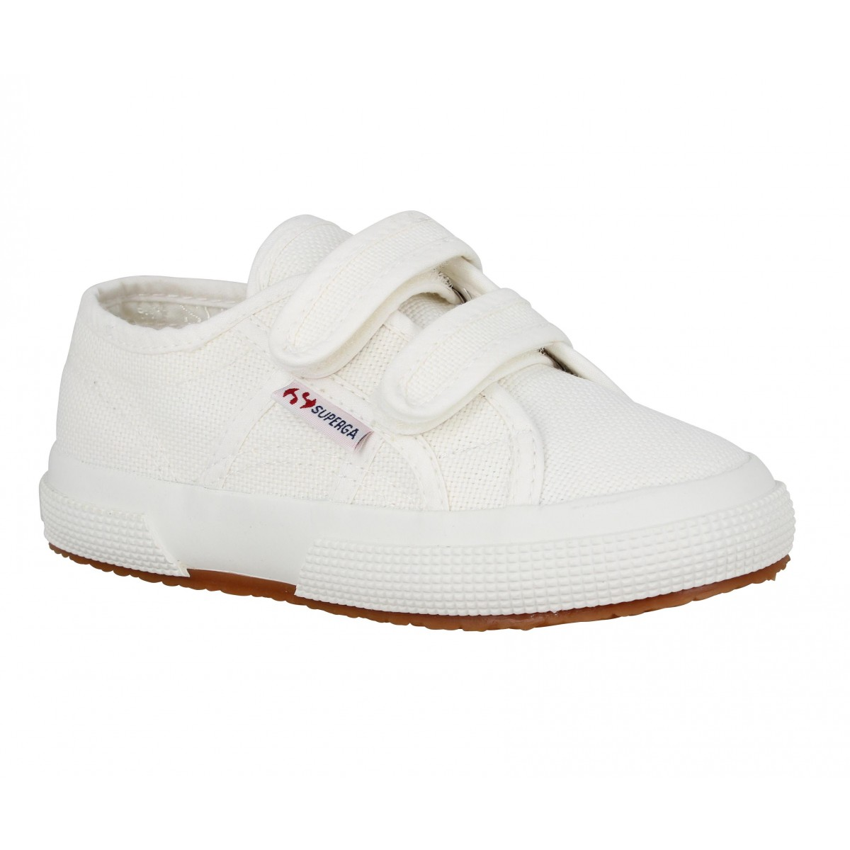 Baskets SUPERGA 2750 Velcro Enfant Blanc