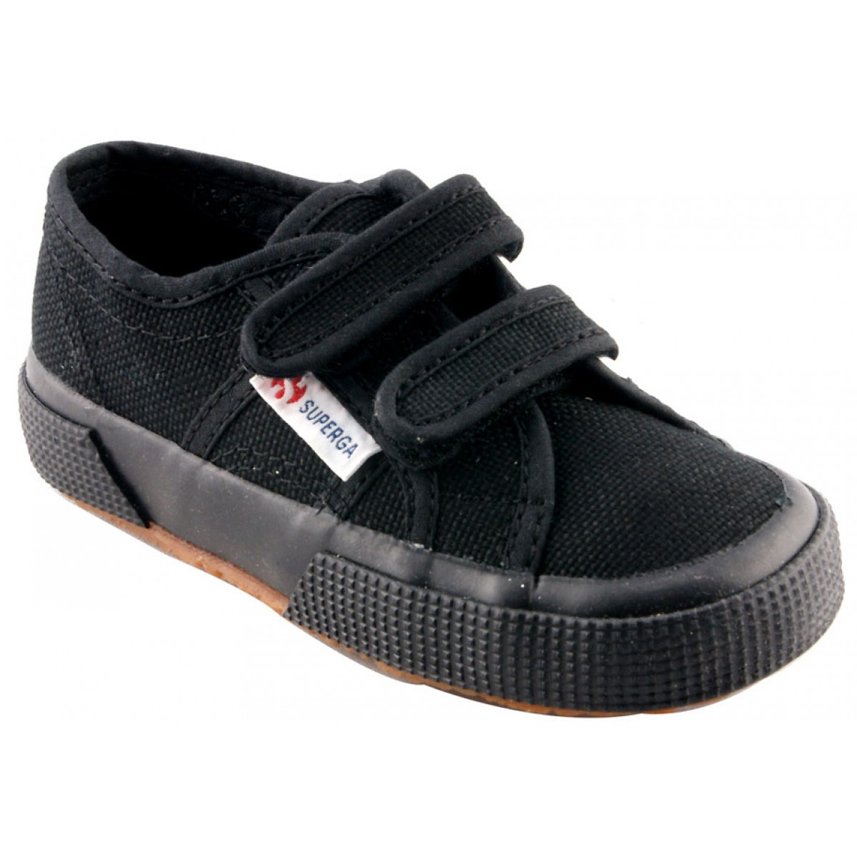 Baskets SUPERGA 2750 Velcro Enfant Noir