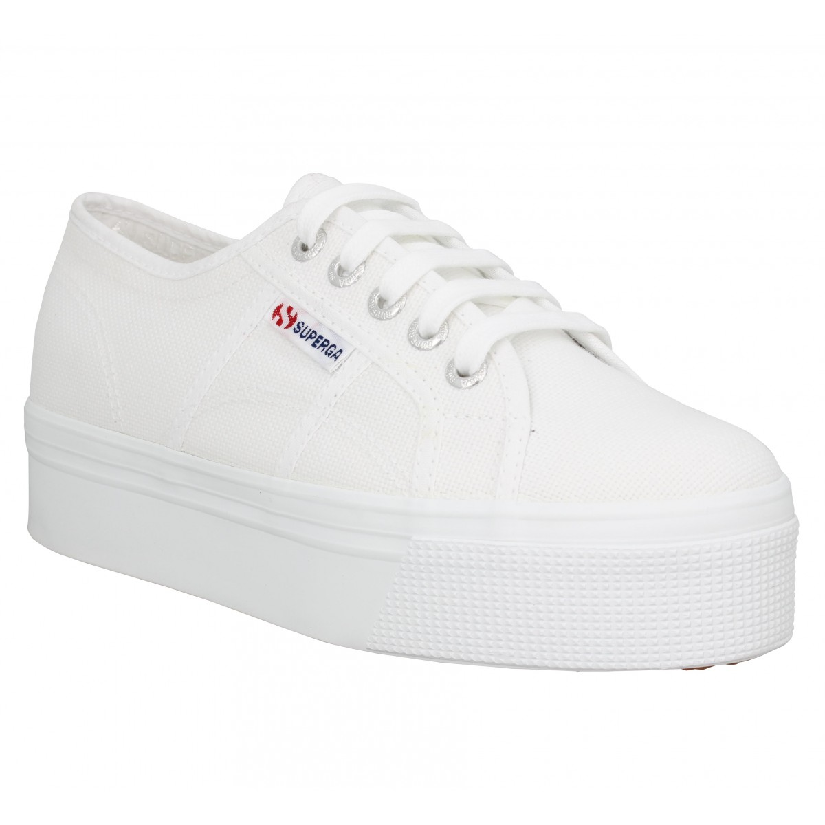 Baskets SUPERGA 2790 Linea Up And Down toile Femme Blanc