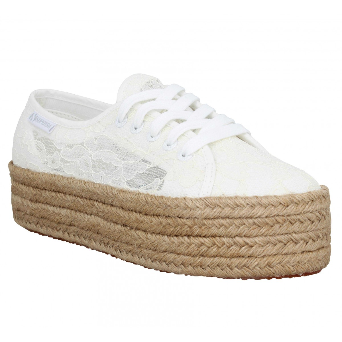 Baskets SUPERGA 2790 New Lace dentelle Femme Blanc