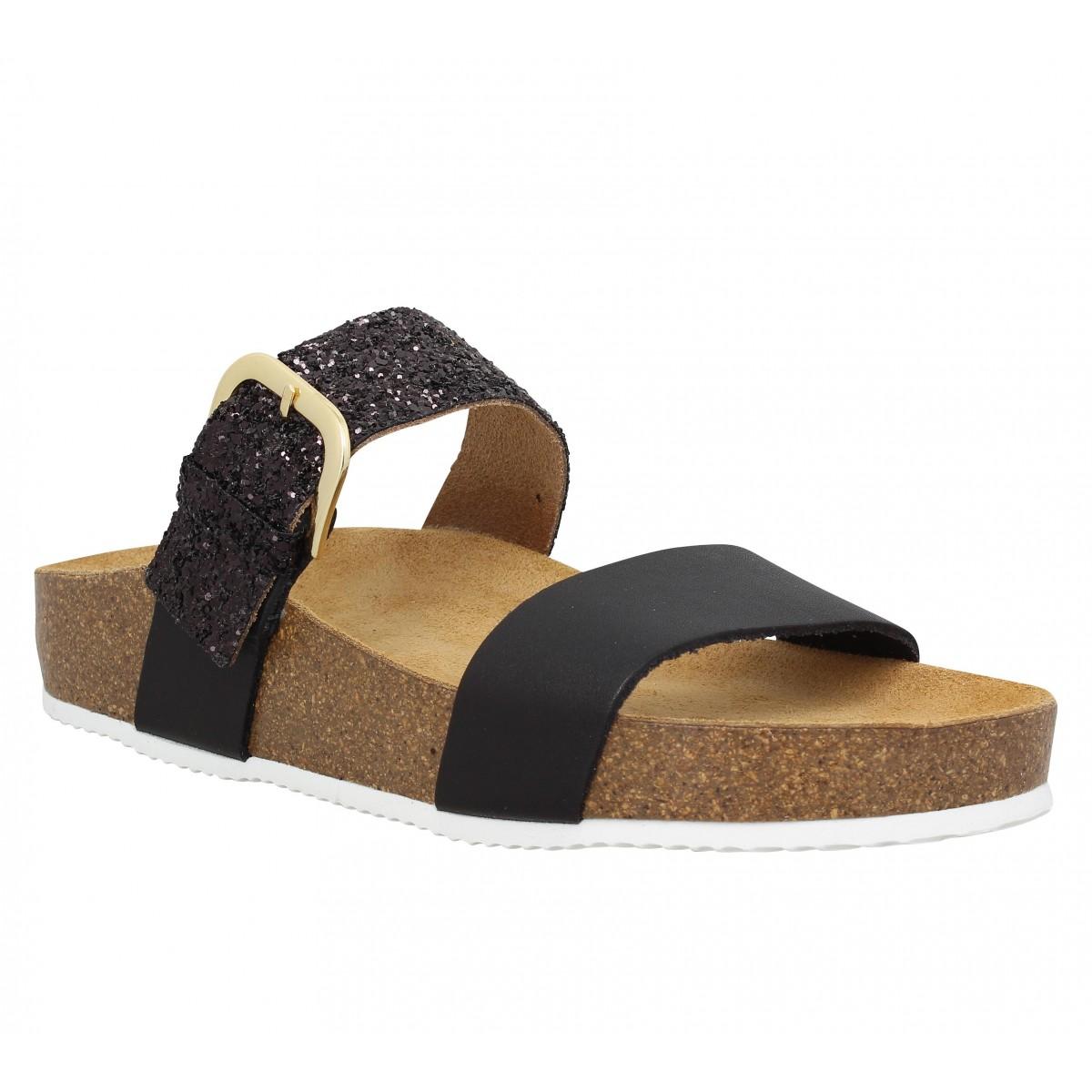 Nu-pieds TAKE ME 161 Glitter Femme Noir