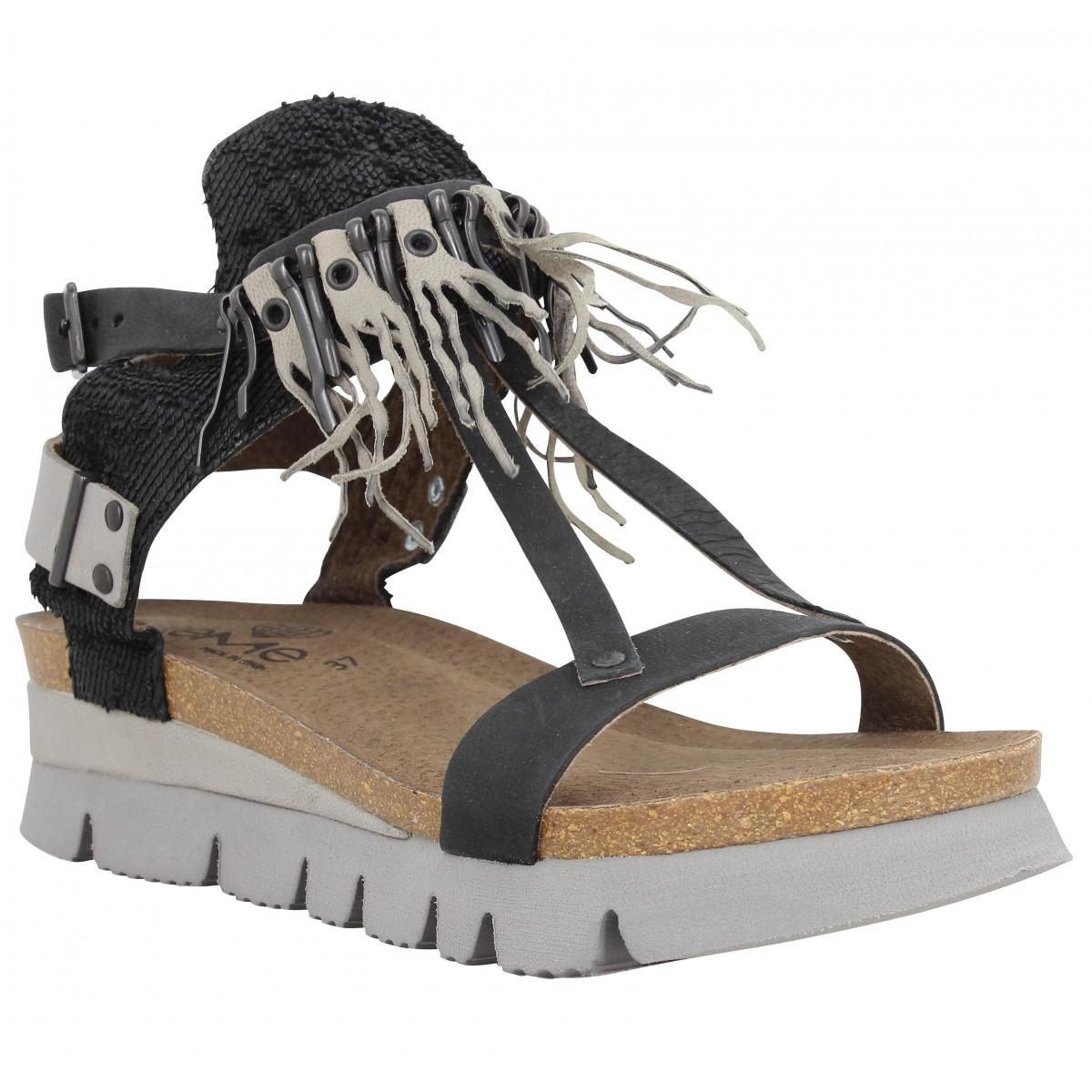 Nu-pieds TAKE ME Isa170 cuir Femme Noir
