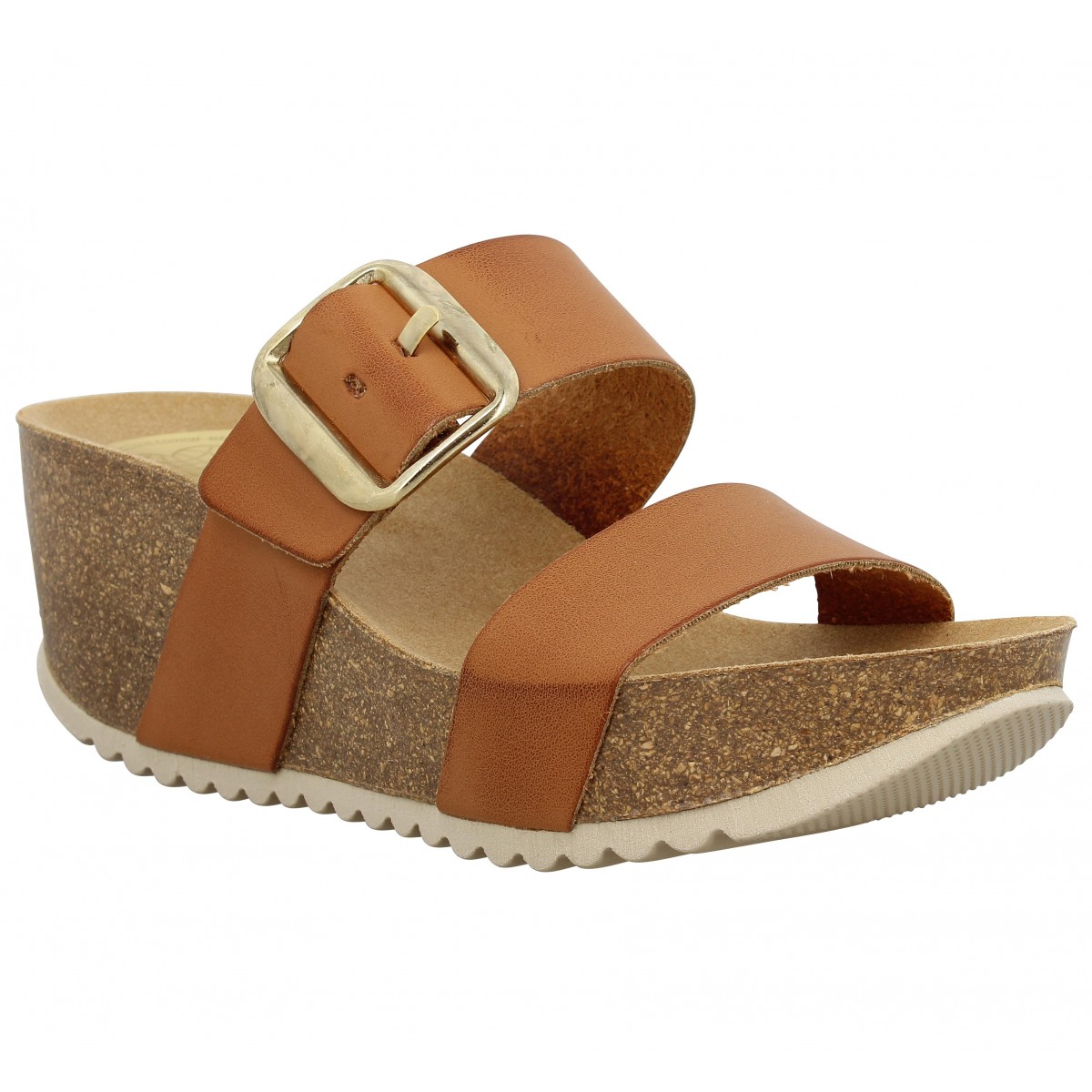Compensées TAKE ME Will030 cuir Femme Tan