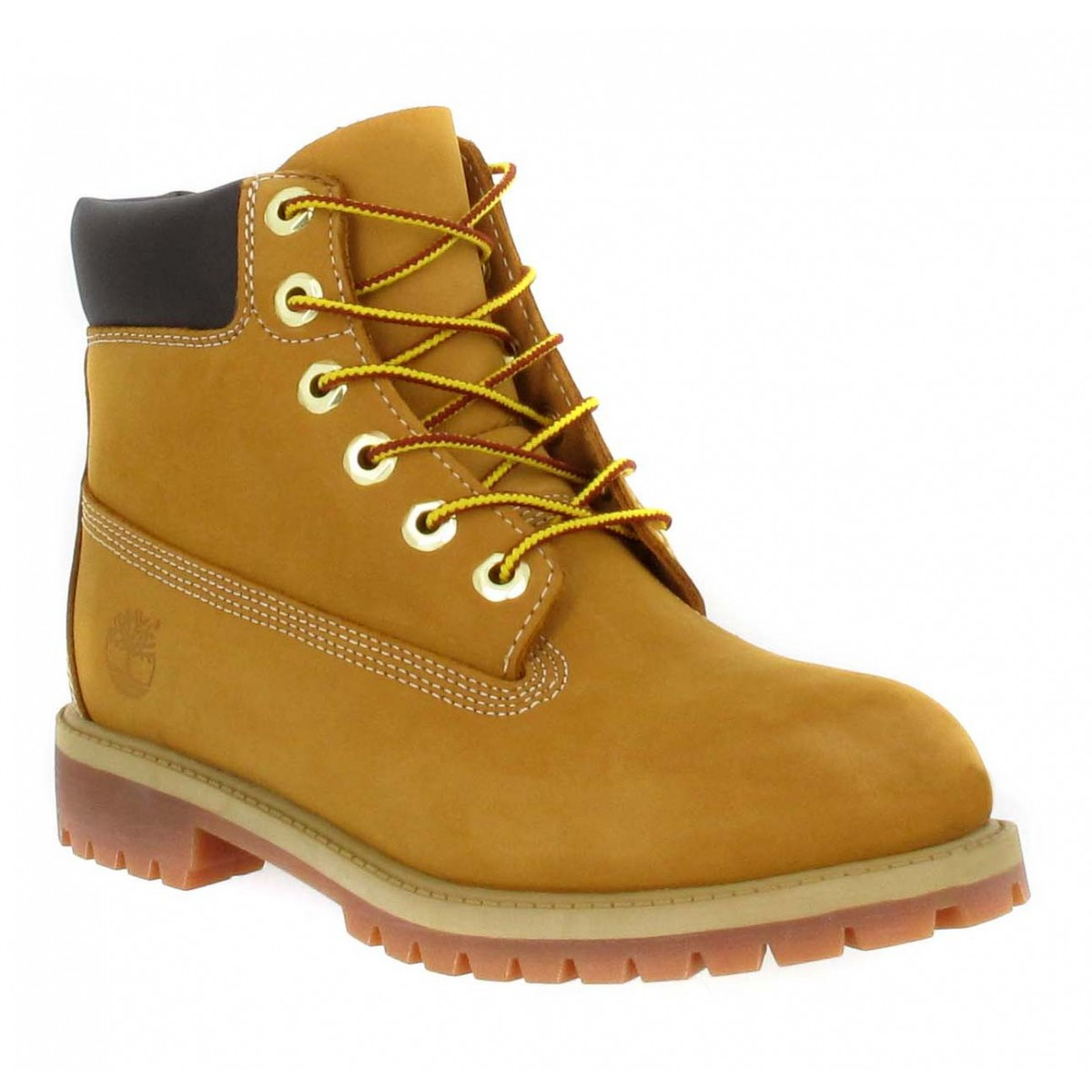 Bottines TIMBERLAND 6in Premium 12909 velours Femme Ocre