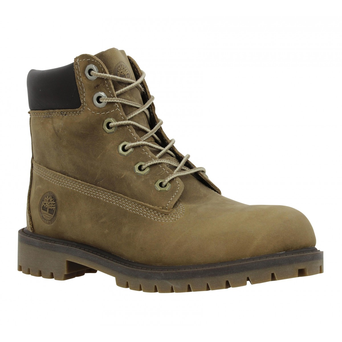 Bottines TIMBERLAND 6in Premium cuir gras Femme Taupe
