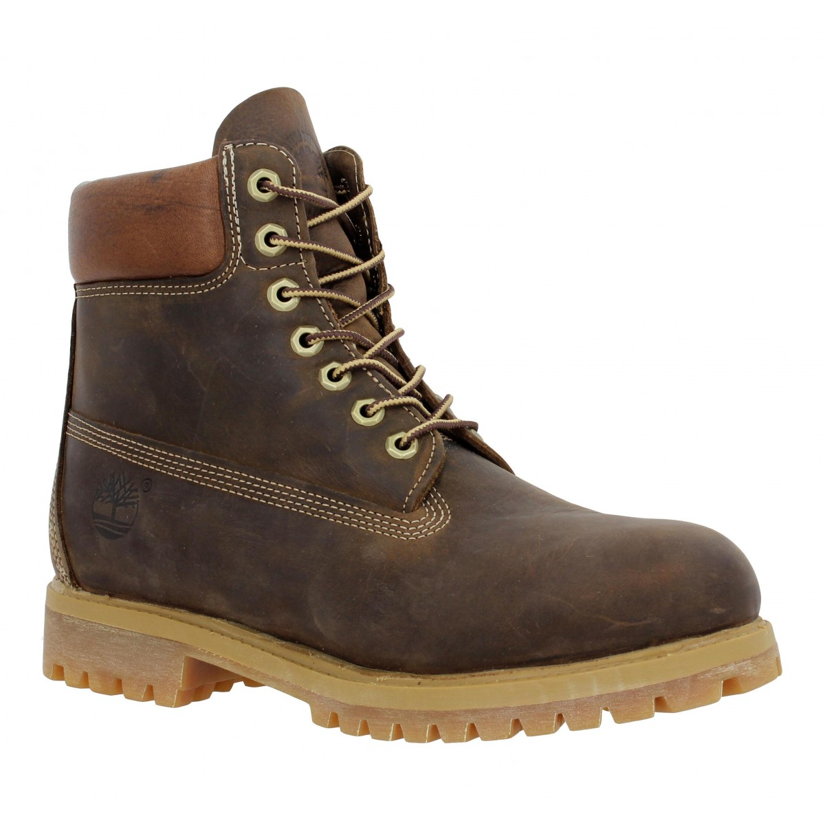 Bottines TIMBERLAND 6in Premium cuir gras Homme Marron