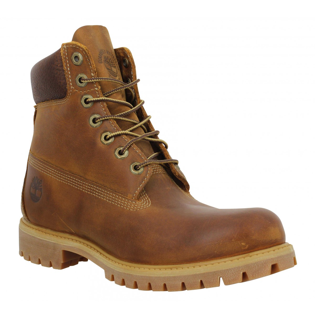 Bottines TIMBERLAND 6in Premium Heritage WP nubuck Homme Marron