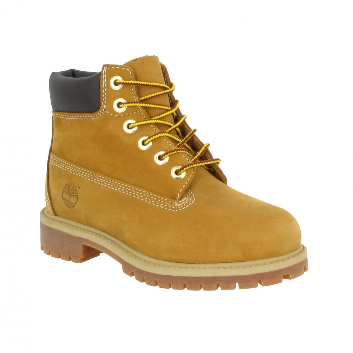Bottines TIMBERLAND 6in Premium velours Enfant Ocre