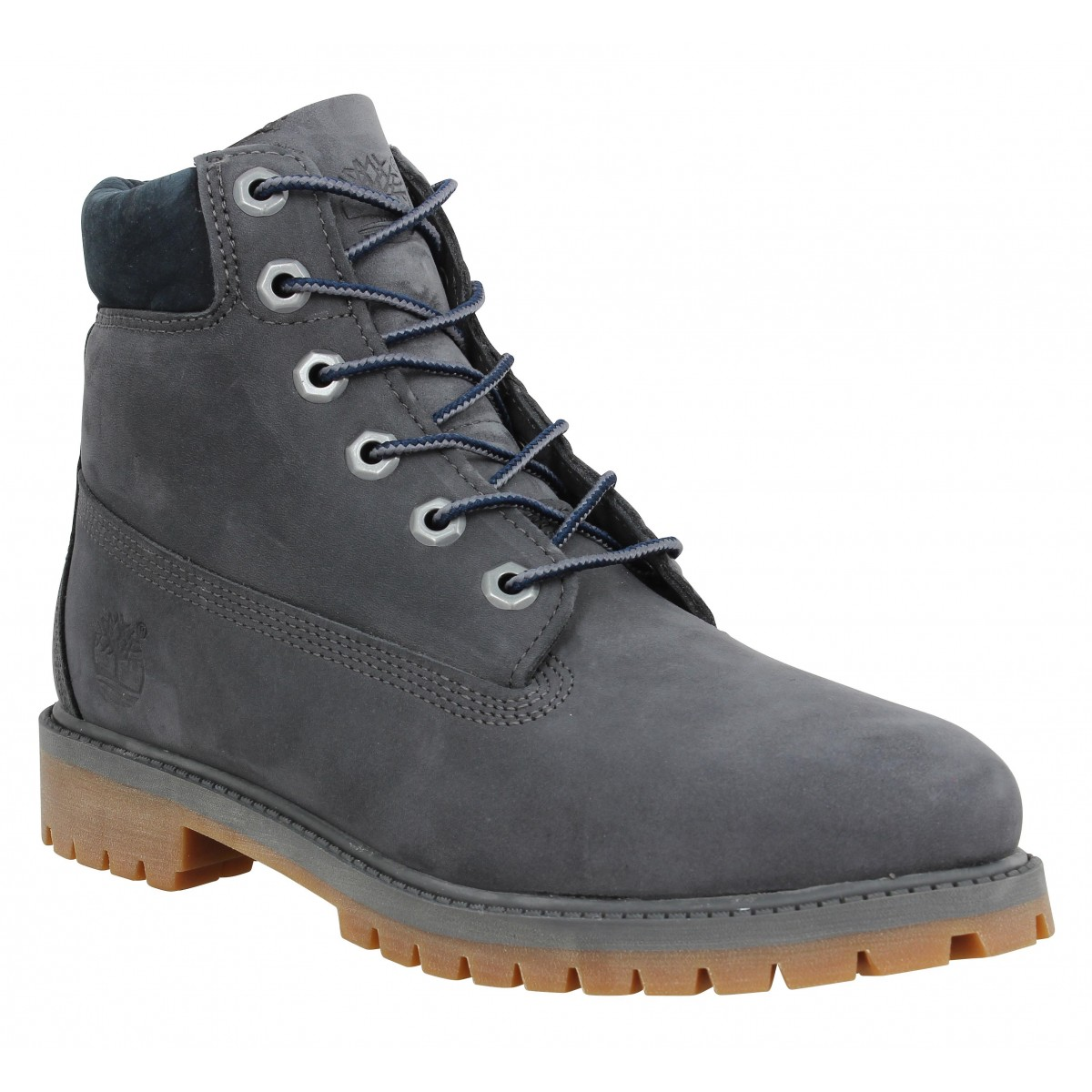 Bottines TIMBERLAND 6in Premium velours Femme Full Gris